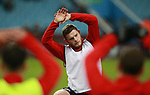 Jack O'Connell of Sheffield Utd warms up during the Championship match at Villa Park Stadium, Birmingham. Picture date 23rd December 2017. Picture credit should read: Simon Bellis/Sportimage