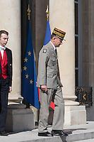 Pierre de Villiers. - Conseil restreint de sÈcurite et de defense ‡ l'Elysee suite a l'attentat de Nice perpetre le 14 juillet.