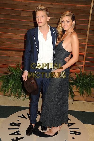 02 March 2014 - West Hollywood, California - Cody Simpson, GiGi Hadid. 2014 Vanity Fair Oscar Party following the 86th Academy Awards held at Sunset Plaza.  <br /> CAP/ADM/BP<br /> &copy;Byron Purvis/AdMedia/Capital Pictures