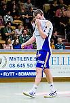 Stockholm 2014-03-02 Handboll Elitserien Hammarby IF - Ystads IF :  <br /> Ystads Martin Bager deppar<br /> (Foto: Kenta J&ouml;nsson) Nyckelord:  Ystad Bajen HIF depp besviken besvikelse sorg ledsen deppig nedst&auml;md uppgiven sad disappointment disappointed dejected