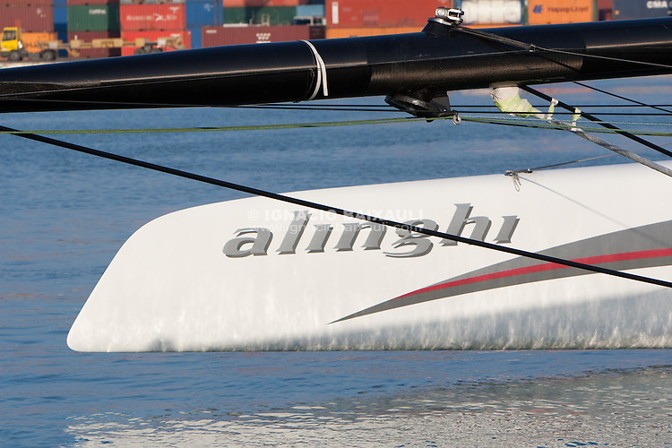 Downloading Alinghi 5 from Cassandra B cargo. 5/1/2010 Valencia, Spain