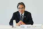 Ryohei Miyata, SEPTEMBER 29, 2015 : The first meeting of the Tokyo 2020 Emblems Selection Committee is held in Tokyo, Japan. This committee initiated the selection of the new Olympic and Paralympic Games emblems. (Photo by Yohei Osada/AFLO SPORT)
