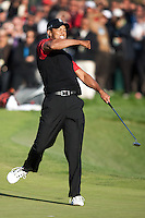 December 4, 2011: Tiger Woods defeats Zach Johnson on the final hole of the of the Chevron World Challenge held at Sherwood Country Club, Thousand Oaks, CA.