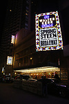 Theatre Marquee for the opening night performance for 'Springsteen on Broadway' at The Walter Kerr Theatre on October 12, 2017 in New York City.