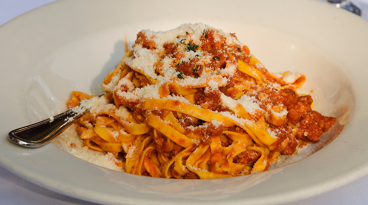 California, San Francisco: Pasta bolognese at Cafe Delucchi.Photo #: 18-casanf79311.Photo © Lee Foster 2008