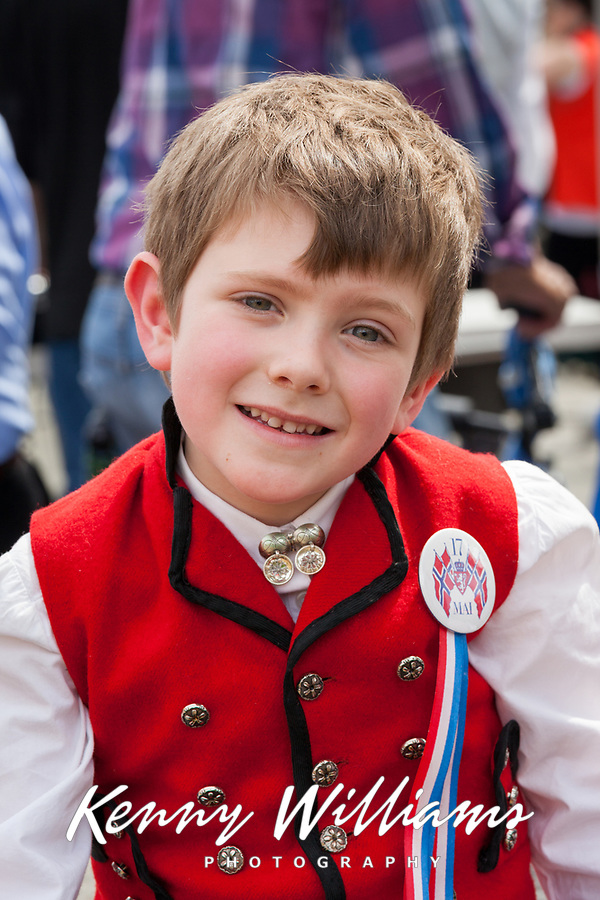 boy wearing traditional norwegian clothing 17th of may festival