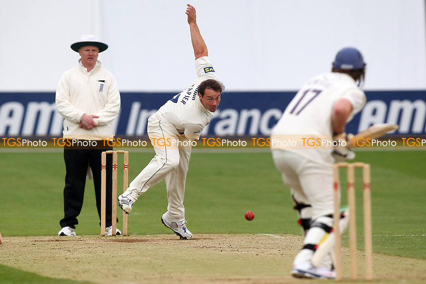Graham Napier in bowling action for Essex - Essex CCC vs Kent CCC - Pre-Season Friendly Cricket Match at the Essex County Ground, Chelmsford - 04/04/14 - MANDATORY CREDIT: Gavin Ellis/TGSPHOTO - Self billing applies where appropriate - 0845 094 6026 - contact@tgsphoto.co.uk - NO UNPAID USE