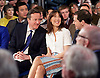 Conservative Party Spring Forum <br /> at The Old Granada Studios, Manchester, Great Britain <br /> 28th March 2015 <br /> <br /> <br /> <br /> David Cameron <br /> Prime Minister and Leader of the Conservatives <br /> speech <br /> <br /> Samantha Cameron <br /> <br /> George Osborne <br /> Chancellor the Exchequer <br /> speech <br /> <br /> Photograph by Elliott Franks