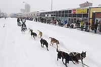 Travis Cooper Saturday, March 3, 2012  Ceremonial Start of Iditarod 2012 in Anchorage, Alaska.