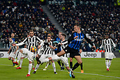 9th December 2017, Allianz Stadium, Turin, Italy; Serie A football, Juventus versus Inter Milan; Ivan Perisic flicks the ball forward in the box