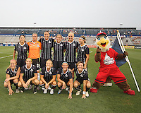Starting eleven of the Washington Freedom during a WPS match against the Philadelphia Independence on August 4 2010 at the Maryland Soccerplex, in Boyds, Maryland. Freedom won 2-0.