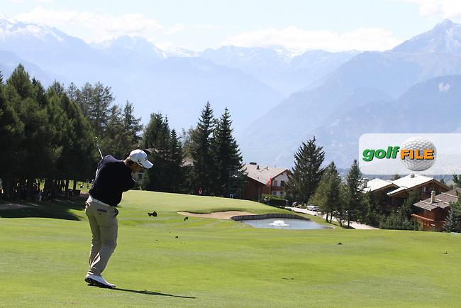 Romain Wattel (FRA) on Day 4 of the Omega European Masters 2012, Golf Club Crans-Sur-Sierre, Crans Montana, Switzerland, 01/09/12...(Photo Jenny Matthews/www.golffile.ie)
