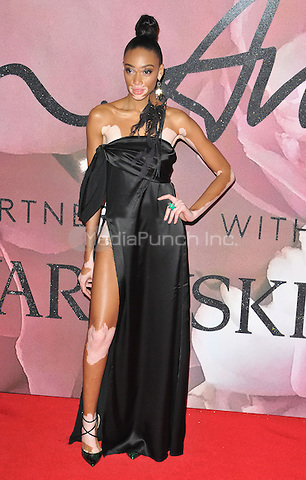 Winnie Harlow at the Fashion Awards 2016, Royal Albert Hall, Kensington Gore, London, England, UK, on Monday 05 December 2016. <br /> CAP/CAN<br /> ©CAN/Capital Pictures /MediaPunch ***NORTH AND SOUTH AMERICAS ONLY***