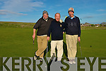 Old Reserves golfers Padraig Teahan, captain Brian Neenan and John O'Connor at Ceann Sibeal Dingle Golf Course on Saturday.