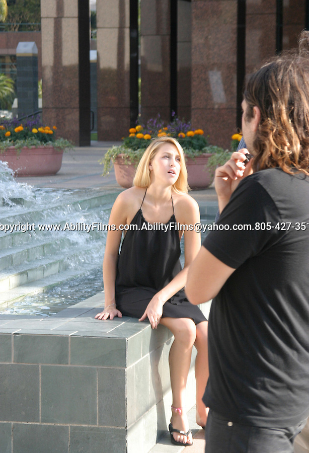 Whitney Port from The Hills filming with Girl Friend in Los Angeles.
