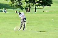 Bethesda, MD - June 26, 2016: Vijay Singh (FIJ) hits a shot on hole two during Final Round of play at the Quicken Loans National Tournament at the Congressional Country Club in Bethesda, MD, June 26, 2016.  (Photo by Philip Peters/Media Images International)