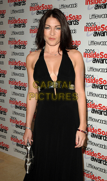 LIZ MAY BRICE.The 2006 Inside Soap Awards at Floridita..25th September 2006  London, England.half length black halterneck dress.CAP/BEL.© Tom Belcher/Capital Pictures.