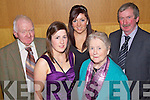 Having a wonderful time at the Kerry Holstein Friesian Breeders Club Annual Social held in The Ballyroe Heights Hotel on Friday night were l/r Teddy Kennelly Ballylongford, Katie & Emer Kennelly, Ardfert, Mary Kennelly, Ballylongford and Peter Kennelly, Ardfert................................................................................................................................................................................................................................................................................................................................................................................................................................................................................................................................................................................................................................. ........................