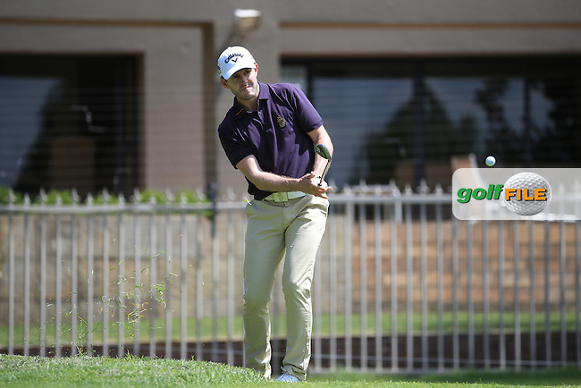 Stuart Manley (WAL) chips from the back of the first green during Round Three of the 2016 BMW SA Open hosted by City of Ekurhuleni, played at the Glendower Golf Club, Gauteng, Johannesburg, South Africa.  09/01/2016. Picture: Golffile | David Lloyd<br /> <br /> All photos usage must carry mandatory copyright credit (&copy; Golffile | David Lloyd)