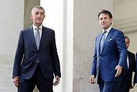 Conte incontra il Primo Ministro Ceco