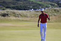 Jacques Kruyswijk (RSA) sinks his birdie putt on the 2nd green during Friday's Round 2 of the 2018 Dubai Duty Free Irish Open, held at Ballyliffin Golf Club, Ireland. 6th July 2018.<br /> Picture: Eoin Clarke | Golffile<br /> <br /> <br /> All photos usage must carry mandatory copyright credit (&copy; Golffile | Eoin Clarke)