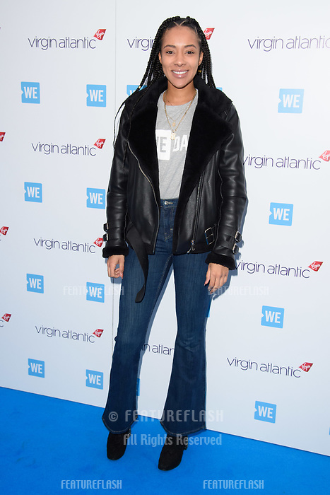 Yasmin Evans arriving for WE Day 2018 at Wembley Arena, London, UK. <br /> 07 March  2018<br /> Picture: Steve Vas/Featureflash/SilverHub 0208 004 5359 sales@silverhubmedia.com