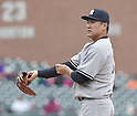 Masahiro Tanaka (Yankees), APRIL 23, 2015 - MLB : Pitcher Masahiro Tanaka of the New York Yankees during the Major League Baseball game against the Detroit Tigers at Comerica Park in Detroit, Michigan, United States. (Photo by AFLO)