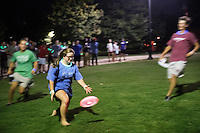 MSU Dawg Daze 2016: Glow-in-the-dark frisbee on the Drill Field.<br />  (photo by Megan Bean / &copy; Mississippi State University)