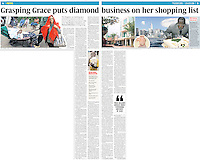 UK Sunday Times Newspaper, Jan 2009, showing the incident where Grace Mugabe attacked photographer Richard Jones. ©sinopix