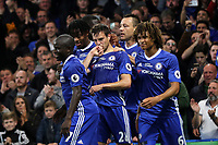 Cesar Azpilicueta (No 28) celebrates scoring Chelsea's second goal during Chelsea vs Watford, Premier League Football at Stamford Bridge on 15th May 2017