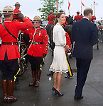 "CATHERINE, DUCHESS OF CAMBRIDGE CHOOSES SAME DRESS EXACTLY 1 YEAR ON..Kate who was attending the Wimbledon Tennis Tournament chose the very same dress she wore exactly 1 year on to the date when in Prince Edward Island, Canada. It must have been a case of deja vu as the weather(rain & sun) too mirrored that of a year ago when in Canada...WILLIAM & KATE.Province House, Prince Edward Island_04/07/2011.Mandatory Credit Photo: ©DIAS-DIASIMAGES..**ALL FEES PAYABLE TO: ""NEWSPIX INTERNATIONAL""**..IMMEDIATE CONFIRMATION OF USAGE REQUIRED:.DiasImages, 31a Chinnery Hill, Bishop's Stortford, ENGLAND CM23 3PS.Tel:+441279 324672  ; Fax: +441279656877.Mobile:  07775681153.e-mail: info@newspixinternational.co.uk"
