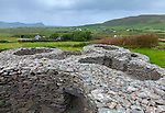County Kerry, Ireland:<br /> Ancient stone fort overlooks the Dingle Peninsula