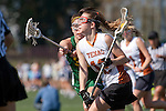 Santa Barbara, CA 02/13/10 - Bernadette Vingerhoets (Texas #12) and Erika Chesnutt (Oregon #35) in action during the Texas-Oregon game at the 2010 Santa Barbara Shoutout, Texas defeated Oregon 11-9.