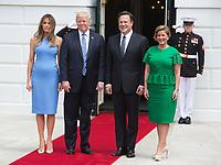 Donald Trump Welcome President Juan Carlos Varela and his wife Lorena Castillo García de Varela of P