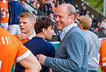 AMSTELVEEN -  coach Michel van den Heuvel (Bldaal)  tijdens de play-offs hoofdklasse  heren , Amsterdam-Bloemendaal (0-2).    COPYRIGHT KOEN SUYK