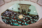 The Imam calls the faithful to prayer at Jamia Mosque in Nairobi, Kenya.