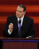St. Paul, MN - September 3, 2008 -- Former Governor Mike Huckabee of Arkansas speaks on day 3 of the 2008 Republican National Convention at the Xcel Energy Center in Saint Paul, Minnesota on Wednesday, September 3, 2008.Credit: Ron Sachs / CNP.(RESTRICTION: NO New York or New Jersey Newspapers or newspapers within a 75 mile radius of New York City)