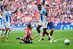Victor Machin 'Vitolo' of Atletico de Madrid and Kenneth Josiah Omeruo of CD Leganes during La Liga match between Atletico de Madrid and CD Leganes at Wanda Metropolitano Stadium in Madrid, Spain. January 26, 2020. (ALTERPHOTOS/A. Perez Meca)
