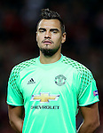 Sergio Romero of Manchester United during the UEFA Europa League match at Old Trafford Stadium, Manchester. Picture date: September 29th, 2016. Pic Matt McNulty Sportimage