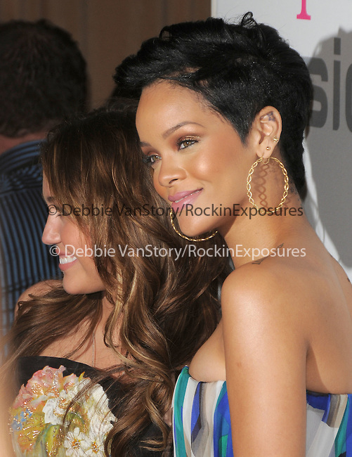 Rihanna & Miley Cyrus at The Clive Davis / Recording Academy Annual Pre- Grammy Party held at The Beverly Hilton Hotel in Beverly Hills, California on February 07,2009                                                                     Copyright 2009 Debbie VanStory/RockinExposures