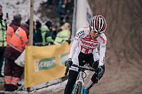 "Ceylin Del Carmen Alvarado (NED/Corendon-Circus) in the infamous ""Pit""<br /> <br /> Women's Race <br /> Superprestige Zonhoven (BEL) 2018"