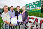 Cahersiveen Races all set for the Off on the 8th of September pictured here committee members l-r; Liam Musgrave(Secretary), Micheal O'Shea, Geoffrey Quirke & Catherine Cournane.