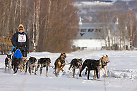 Brent Beck races by Creamer's field migratory waterfowl refuge in the 2008 Open North American Championship sled dog race, third heat, March 16, 2008.