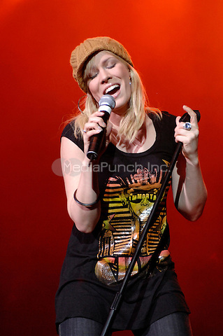 Natasha Bedingfield performing at the Q102 Jingle Ball at the Tweeter Center in Camden, New Jersey on December 16, 2007. © David Atlas / MediaPunch