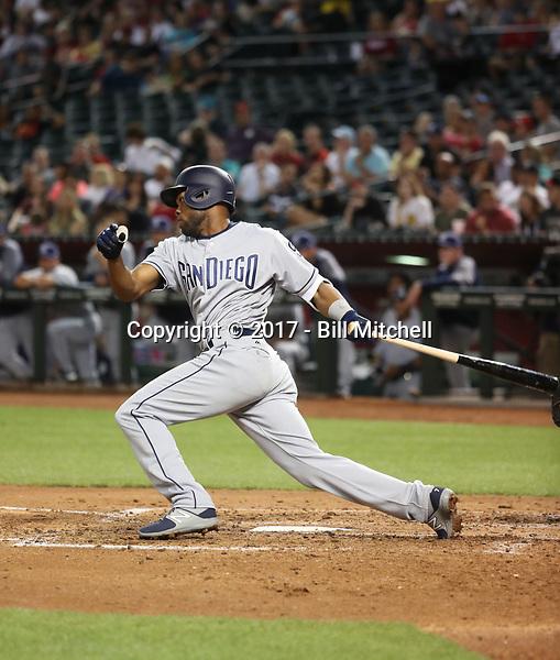 Manny Margot - 2017 San Diego Padres (Bill Mitchell)
