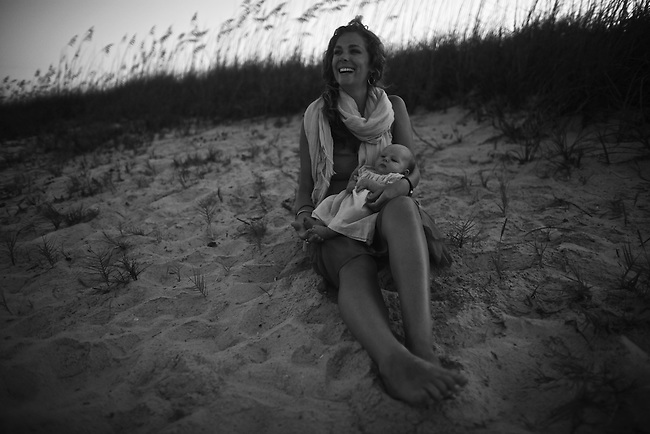 Elizabeth and daughter in Fernandina Beach, Fla. July 24, 2010.