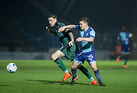 Dominic Gape of Wycombe Wanderers & Sonny Bradley of Plymouth Argyle during the Sky Bet League 2 match between Wycombe Wanderers and Plymouth Argyle at Adams Park, High Wycombe, England on 14 March 2017. Photo by Kevin Prescod / PRiME Media Images.