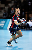 23 NOV 2011 - LONDON, GBR - Britain's Nina Heglund races up the court during the 2011 London Handball Cup match against Angola at The Handball Arena in the Olympic Park in Stratford, London .(PHOTO (C) NIGEL FARROW)