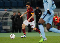 AS Roma's Alessandro Fiorenzi  during the Champions League Group E soccer match between As Roma and Manchester City  at the Olympic Stadium in Rome December 10 , 2014.