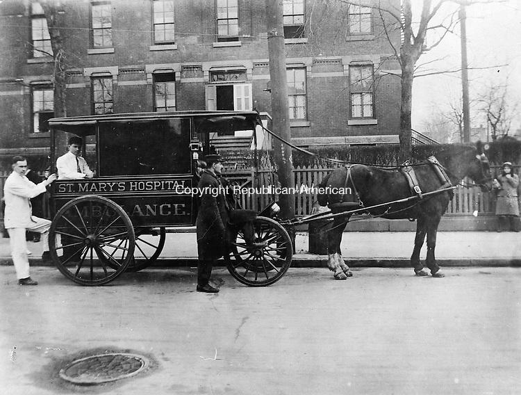 St. Mary's Hospital ambulance, Waterbury, c. 1909